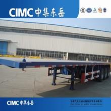Cimc Tri eje 40 pies planos embalado remolque venta