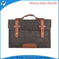 new Custom Wool Felt Laptop Sleeve with shoulder strap