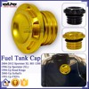 BJ-FTC-002 Gold Motorcycle Fuel Gas Tank Cap Cover For Harley Davidson Sportster Dyna Softail Touring