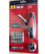 23pcs tools set with Adjustable Oblique T type ratchet handle