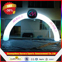 Beautiful inflatable LED light arch for wedding events