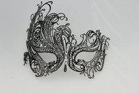Attractive half face hide metal carnival mask female venetian party