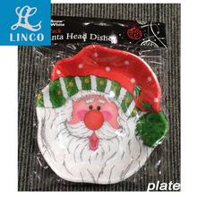 Santa Claus Design Plastic PP Tray For Christmas