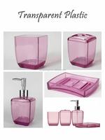 Transparent acrylic unique hotel bathroom sets