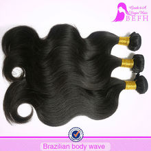 No synthetic no animals body wave 100% unprocessed wholesale virgin brazilian hair
