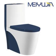 Fashion Color toilet! Foshan Ceramics One Piece Blue Colored Toilet M5808