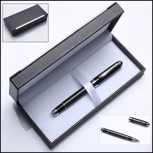 Luxury promotional gift item metal carbon fiber pen sets for men