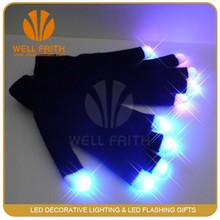 China party items supplier LED glow in the dark gloves,LED magic show flashing gloves