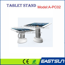 2015 NEW Freestanding ipad tablet pc stand holder display metal security stand with charger alarm for exhibition