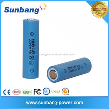 CE,FCC,MSDS Certification approved 18650 3.7v 2200mah li ion battery 3.6v lithium ion battery for eclectic products