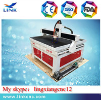 Optional 2.2kw/3.0kw spindle Link LXS1212 Nc-studio controller cnc router for granit with stainless steel water tank