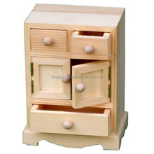 Lovely dollhouse plain wooden miniature furniture