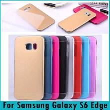 S6 Edge Case Metal Aluminum Case+PP Hard Back Cover Phone Case For Samsung Galaxy S6 Edge