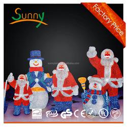 2015 outdoor 3D big Snowman decorative lights