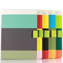 Colourful PU Leather Wallet Flip Cover Case With Credit Card For iPad Air 2