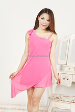 ladies Trendy sleeveless bathrobe sex Lace Lace nighty/night dress