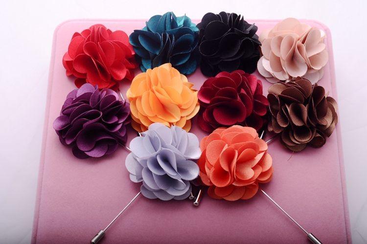 2017 Moda Hecha A Mano de Tela Forma de La Flor Broches Para. \u0026gt;\u0026gt;\u0026gt;