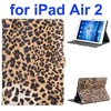 New Arrival Leopard Print Pattern Flip Leather Smart Case for iPad Air 2