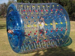 Exciting water roller ball game, inflatable water wheel, water rolling ball