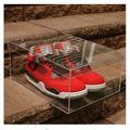 Wholesale top grade clear acrylic plexiglass shoe boxes/clear shoe storage boxes