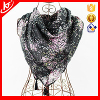 Colorful Tiny Spots Cotton Lace Square Scarf For Woman