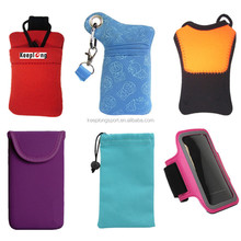 Customize mobile phone cases shockproof cell phone bags Mini Neoprene Sleeve Soft