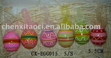 pottery egg hanging deco-terracotta painting egg for easter gifts