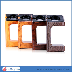 Wood printing design beach for apple watch stand made of plastic material