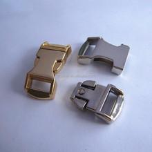 14mm Gold metal buckle ,1/2 metal buckle for webing straps,14mm side release buckles wholesale