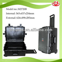 IP67 protective rating plastic handle equipment storage case with wheels