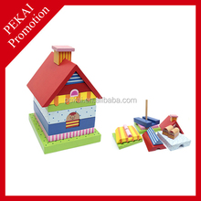 2015 promotion gift educational wholesale wooden toy doll house China supplier