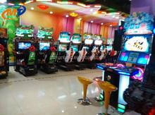 Máquinas de jogos de Arcade console de videogame máquina de jogo simulador conduz o carro de competência FF4 / rodas de liga leve de carro de corrida loucos