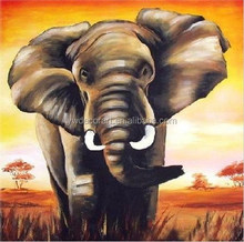 Museum Quality Unique Wall Decor Hand Painting Majestic Elephant Oil Painting abstract painting African animal theme Hot Picture