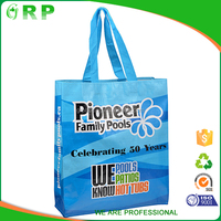 Cheap eco friendly supermarkets pp woven antibacterial shopping bag