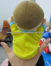 niño y niña títere de mano