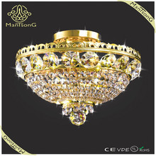 Free shipping 2015 light trade assurance suppliers hot sale 3 lights small modern crystal ceiling light