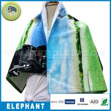 Customized logo promotion digital Print cotton beach towel