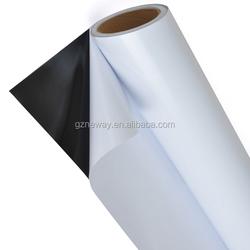 glossy white 20mic removable glue pvc adhesive vinyl film for digital printing