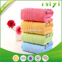 100% cotton towel 32s/2 ring spun yarn dobby band/border bath towels
