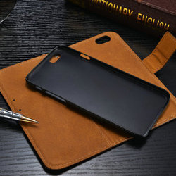 High Quality 2 In 1 Case Detachable Cover Case PU Leather Folio ID Card Case for iPhone 6 4.7inch