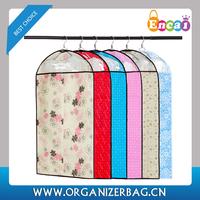 Encai Durable Clothing Dustproof Cover Floral Print Garment Bag Suit Cover Cheap
