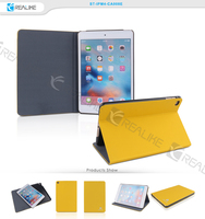 Ultra slim flip pu leather tablet case for ipad mini