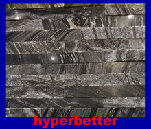 Natural antique wood black marble culture stone tiles mixed polished and split