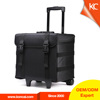 Lightweight hair nylon telescopic handle travel rolling beauty makeup cases professionals with wheels, cosmetics case luggage
