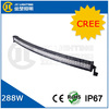 50 Inch 288W 4x4 Cree Led Car Light Curved Led Light Bar Offroad 4x4 Accessories For Car