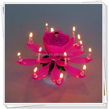 lotus flower happy birthday music rotating candle