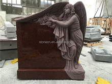 Western style cheap granite Angel headstone