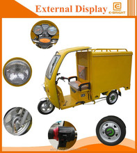 electric delivery tricycle / electric cargo tricycle with cabin/electric used tricycle