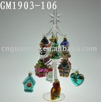 christmas tree with twelve small items