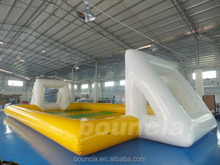 air sealed Inflatable outdoor soap football field on sale, inflatable soap soccer field